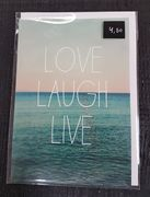 Love, laugh, live-kortti